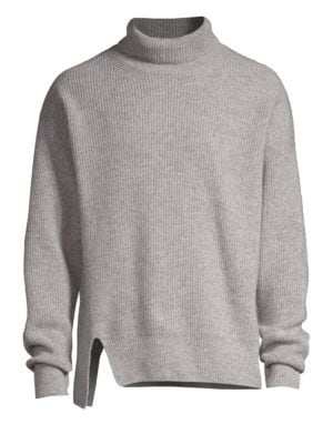 SOLID HOMME Stretch Wool Turtleneck Sweater