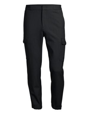 SOLID HOMME Stretch Wool Joggers