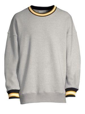 SOLID HOMME Cotton Crewneck Sweatshirt