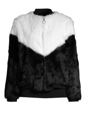 Fur Varsity Jacket