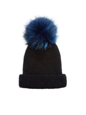 EUGENIA KIM Maddox Knit Fox Fur Pom-Pom Hat