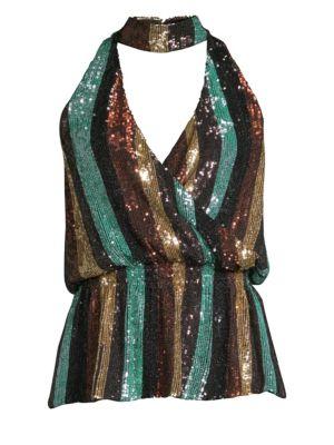 Lia Sequin Silk Top