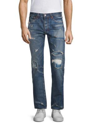 501 Original Fit Distressed Jeans