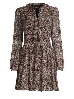 Tilly Ruffled Leopard Print Dress