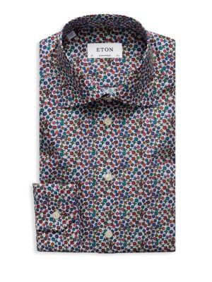 ETON Contemporary-Fit Floral Print Dress Shirt