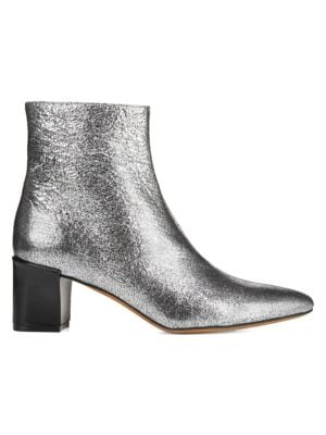Lanica Cracked Metallic Leather Boots