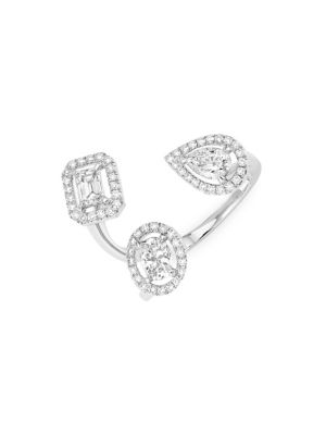 My Twin Trilogy 18K White Gold & Diamond Ring