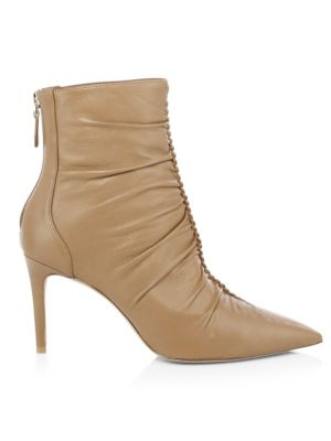 Susanna Ruched Leather Bootie