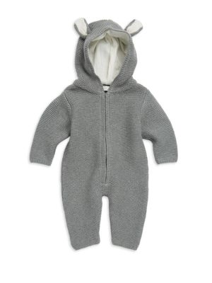 Baby's Knit Hooded Rabbit Romper
