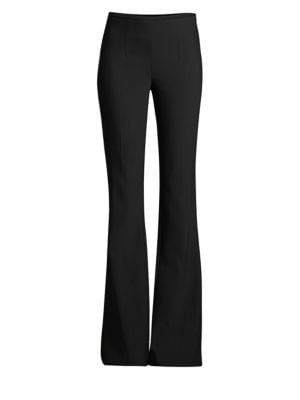 Stretch-Wool Flare Pants