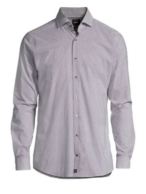 STRELLSON Sereno Geometric Print Button-Down Shirt