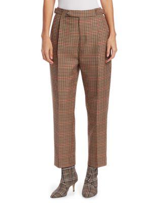 Check High-Waist Pants