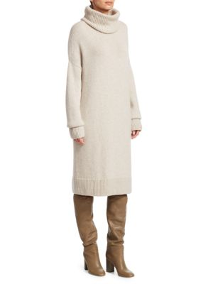 LORO PIANA | Abito Darlington Turtleneck Sweater Dress | Goxip
