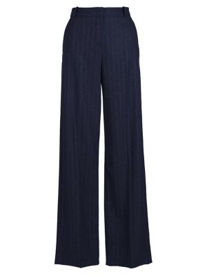 Adam Pinstripe Cashmere Flannel Stretch Pants