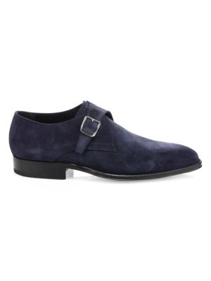 Oreste Suede Monk Strap Loafers