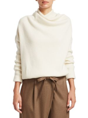 LORO PIANA | Reswick Cashmere Draped Sweater | Goxip