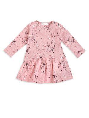 Baby Girl's Cotton-Blend Splatter Dress