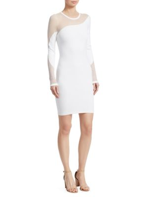 Illusion Knit Bodycon Dress by Cushnie Et Ochs