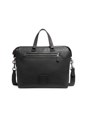 Academy Textured Leather Hold-All Bag