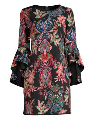 LAUNDRY BY SHELLI SEGAL Reversible Print Sheath Cocktail Dress