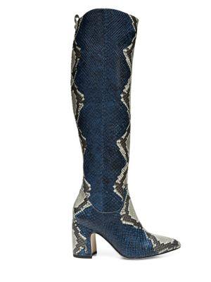 Hai Snakeskin Knee-High Boots