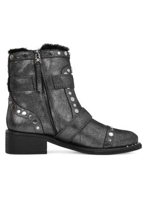 Drea Studded Suede Booties