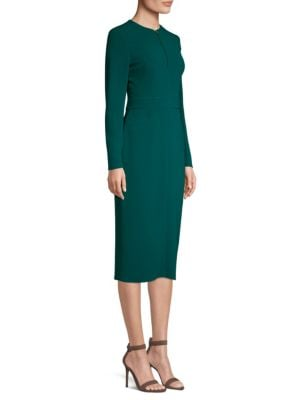 Long Sleeve Midi Dress by Escada