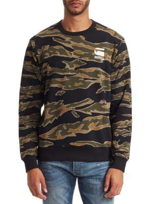 G-STAR RAW Camouflage Logo Sweatshirt