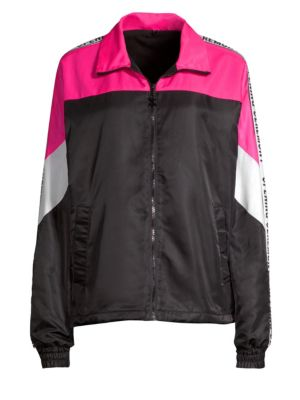 Colorblock Logo Warm-Up Jacket