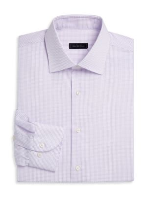 COLLECTION Travel Mini-Grid Dress Shirt