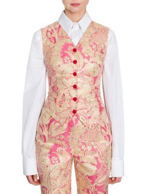 Floral Jacquard Vest