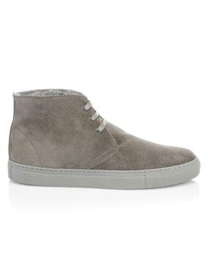 COLLECTION Suede & Shearling Chukka Sneakers