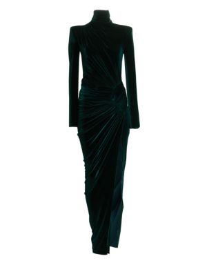 ALEXANDRE VAUTHIER Velvet Turtleneck Sheath Dress