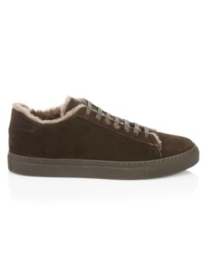 COLLECTION Suede & Shearling Sneakers