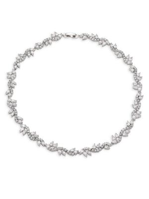 FALLON Micro Vine Crystal Collar Necklace