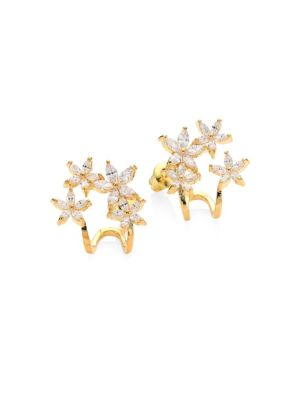 FALLON Vine Cuff Pavé Earrings