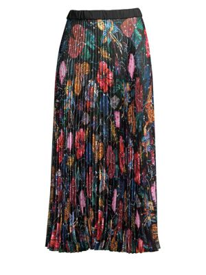 Wildflower Pleated Midi Skirt