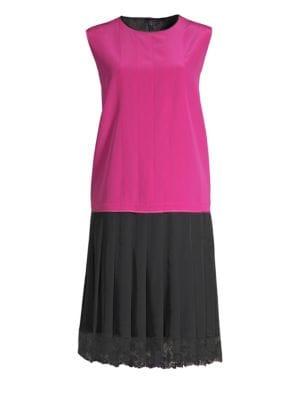 Pleated Charleston Shift Dress