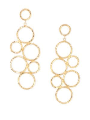 NEST Hammered 24k Goldplated Drop Earrings