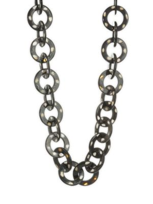 NEST 24K Golplated Spotted Horn Chain Link Long Necklace