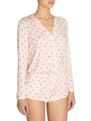 EBERJEY Tulipan Long Sleeve Print Teddy