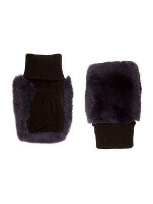 Fingerless Rabbit-Fur Gloves
