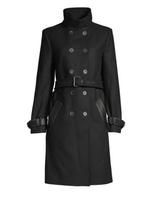 THE KOOPLES | Wool-Blend Double-Breasted Trench Coat | Goxip