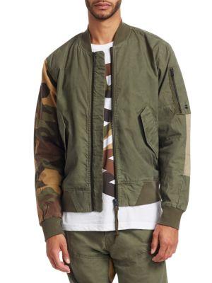 G-STAR RAW Mixed Media Bomber Jacket