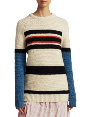 Textured Stripe Wool Sweater