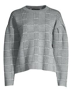 마쥬 MAJE Jacquard Sweater,Checked