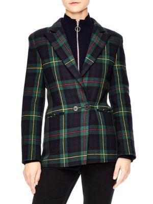 Framboise Plaid Wool-Blend Blazer