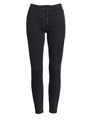 The Looker Lace-Up Ankle Jeans