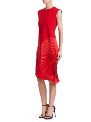 Pleat Panel Shift Dress