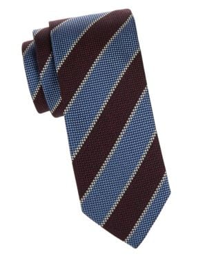 Silk-Blend Striped Tie